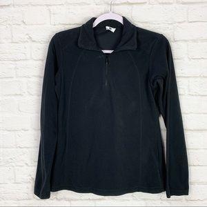 Columbia Black Fleece Quarter Zip Pullover Top SM